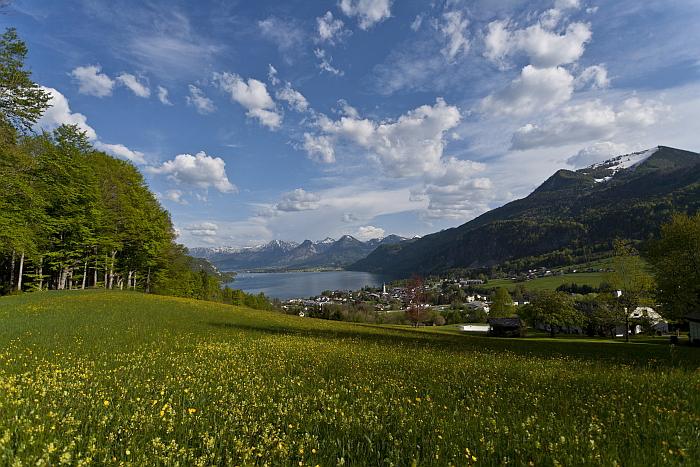 Wandern mit Hund in Österreich im Salzkammergut - St. Wolfang